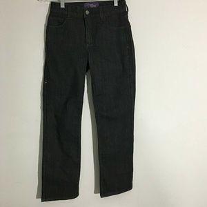 💥3/25 NYDJ Black with black sequins Size 2P